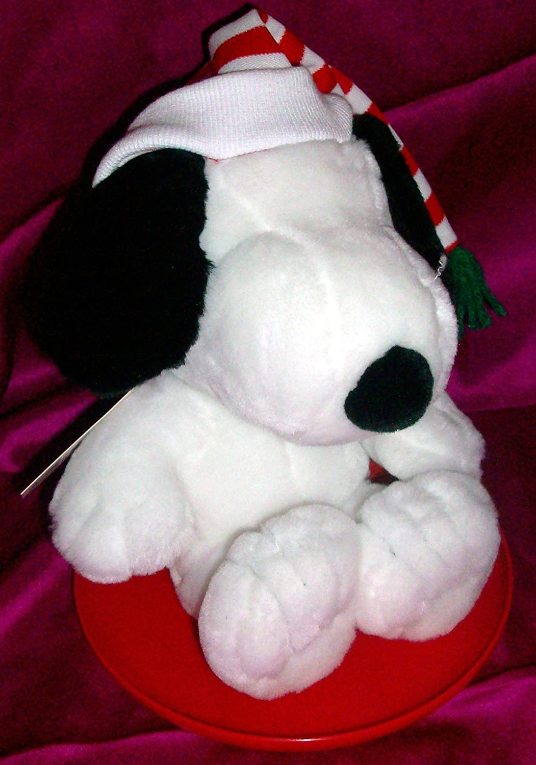 12  Plush Snoopy Doll Toy on rot Disc Doll Toy by Hallmark