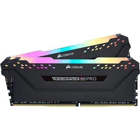 Corsair Vengeance RGB PRO - Módulo de Memoria de Alto Rendimiento, 16 GB (2 x 8 GB) DDR4 3200 MHz C16 XMP 2.0 RGB LED Iluminación, Optimizada para AMD, Negro