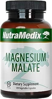 NutraMedix Magnesium Malate - Bioavailable Magnesium Capsules (120 Vegetarian Capsules)