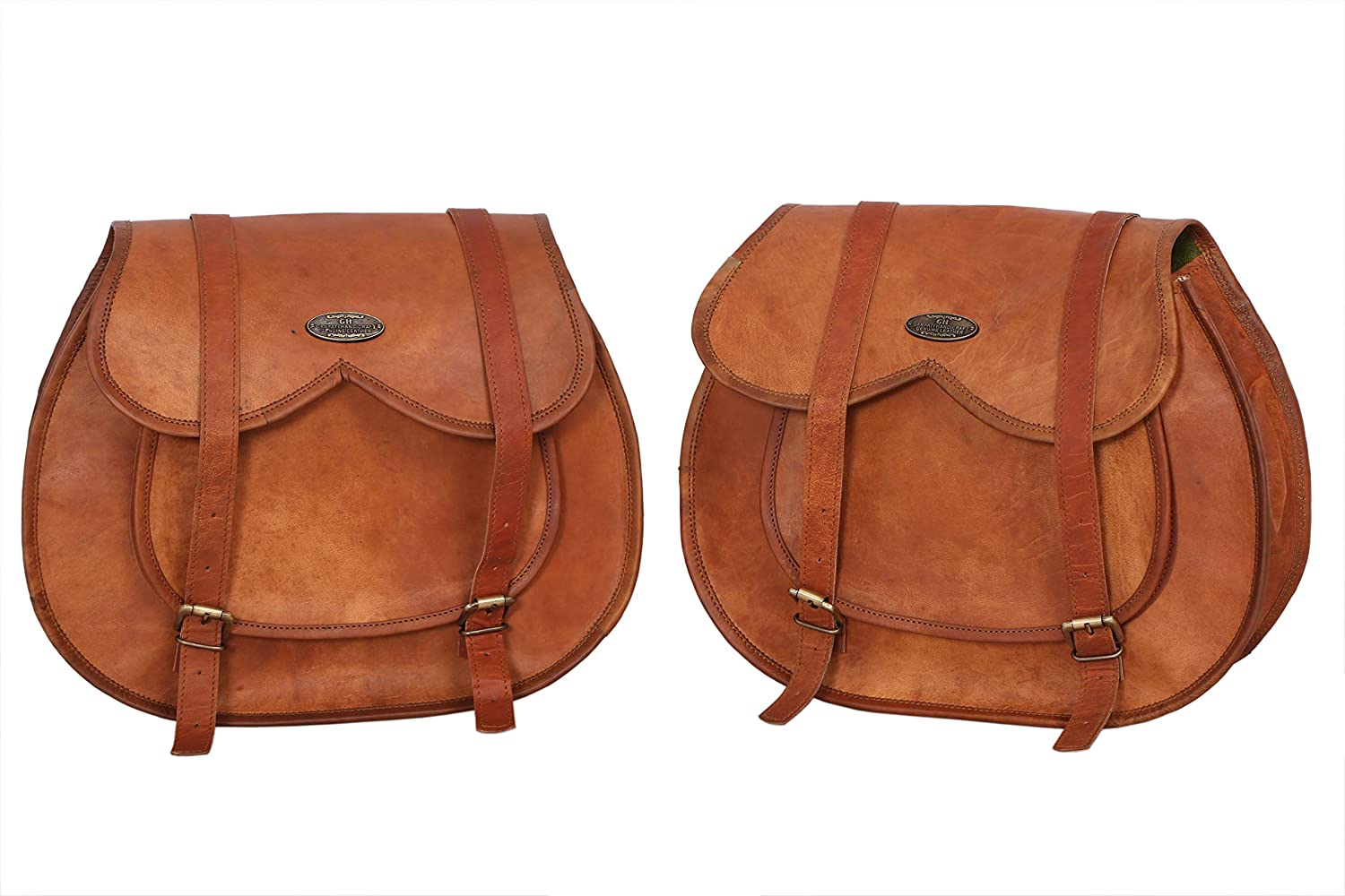 LBH 2 X Motorcycle Side Baltimore online shopping Mall Pouch Brown Leather Saddlebag