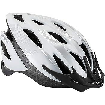 Schwinn Thrasher - Casco de Bicicleta Ligero con Sistema de Confort de 360 Grados con Ajuste de dial, Adulto, Blanco/Plata