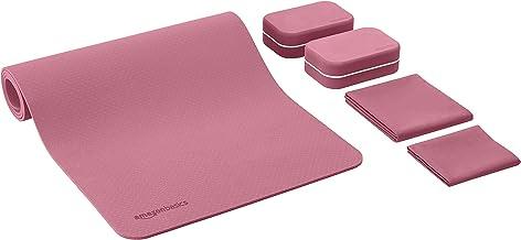 AmazonBasics 0,635 cm dikke TPE yogamat 6-delige set