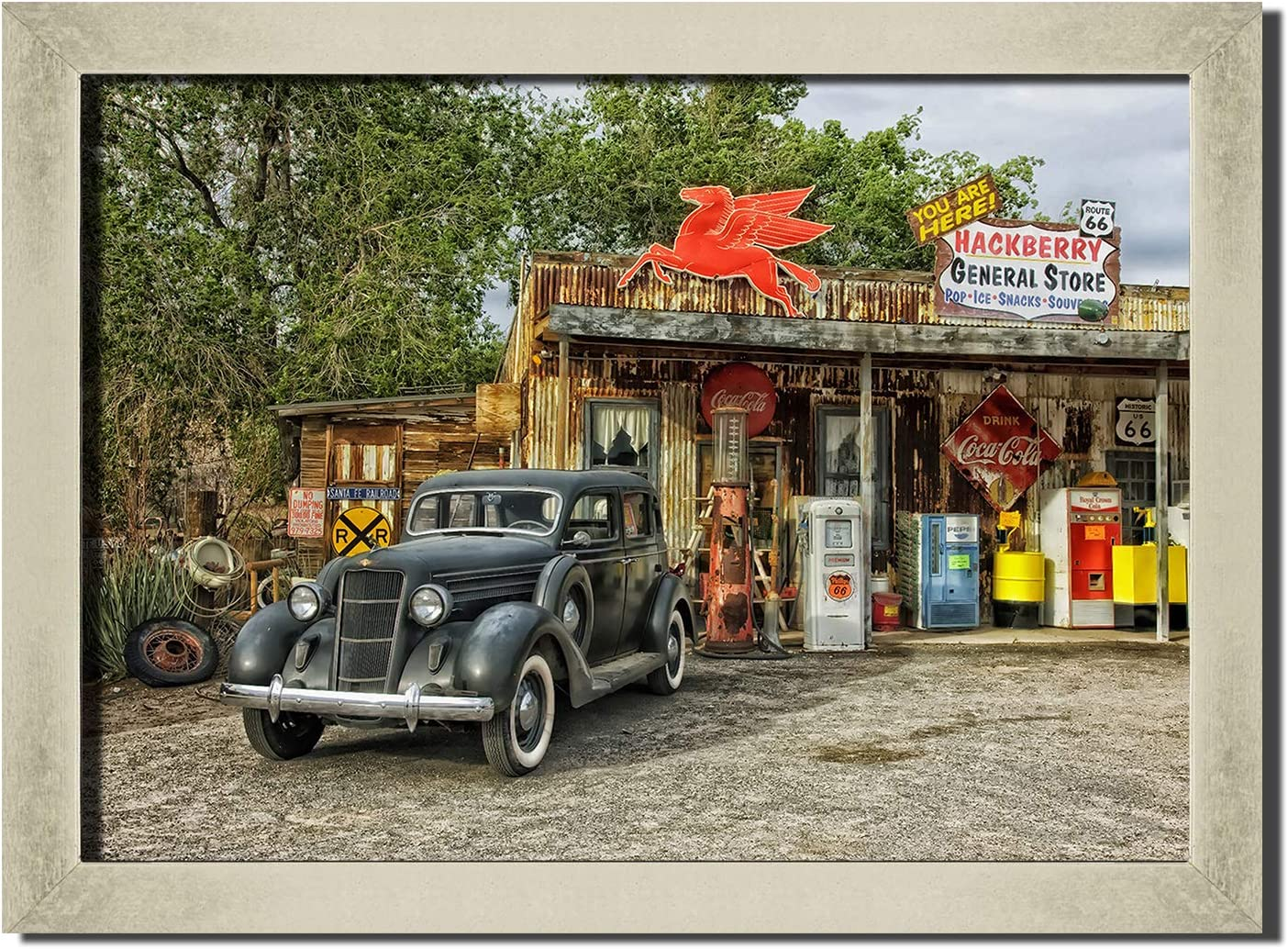 Route 66 Rusty Car Wall Art Print Painting Picture Decor Poster Brand Max 90% OFF new