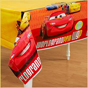 6 Ct Amscan 571763 Disney/©Cars 3 Plastic Table Cover Party Favor