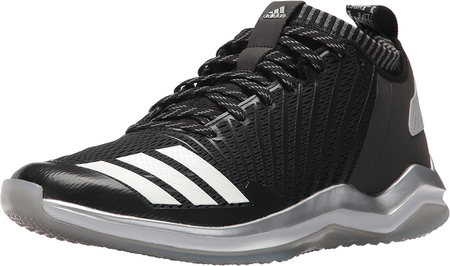 Adidas Men's Freak X Carbon Mid Baseball shoes, Black White Onix, 11 Medium US