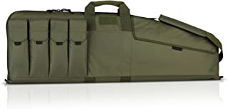 Savior Equipment The Patriot Single Scoped Long Rifle Case Gun Bag w/Padded Handle - Adjustable Sling, Dual Lockable Zippers, Multiple Magazine Holder Pouch, Available Length in 35