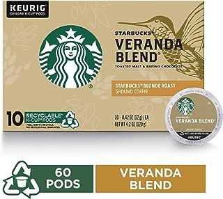 Starbucks Veranda Blend Blonde Roast Single Cup Coffee for Keurig Brewers, 10 Count K-Cup Pods, Pack of 6