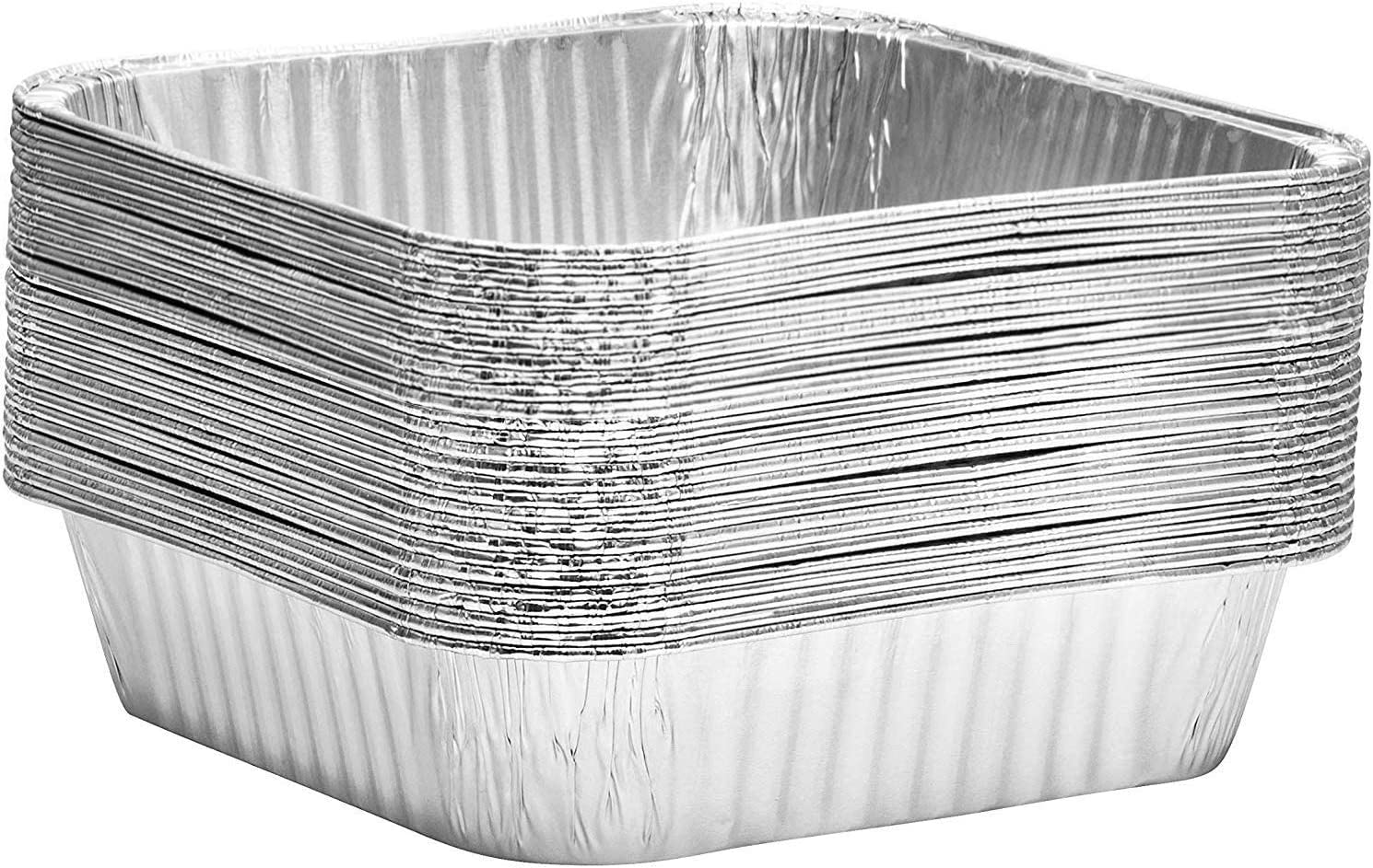 Broiling Propack Square baking Pans 8x8 Disposable Aluminum Foil Baking Tins For Baking Roasting Pack of 30 Cooking