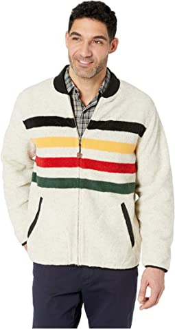 Glacier Stripe Fleece Jacket