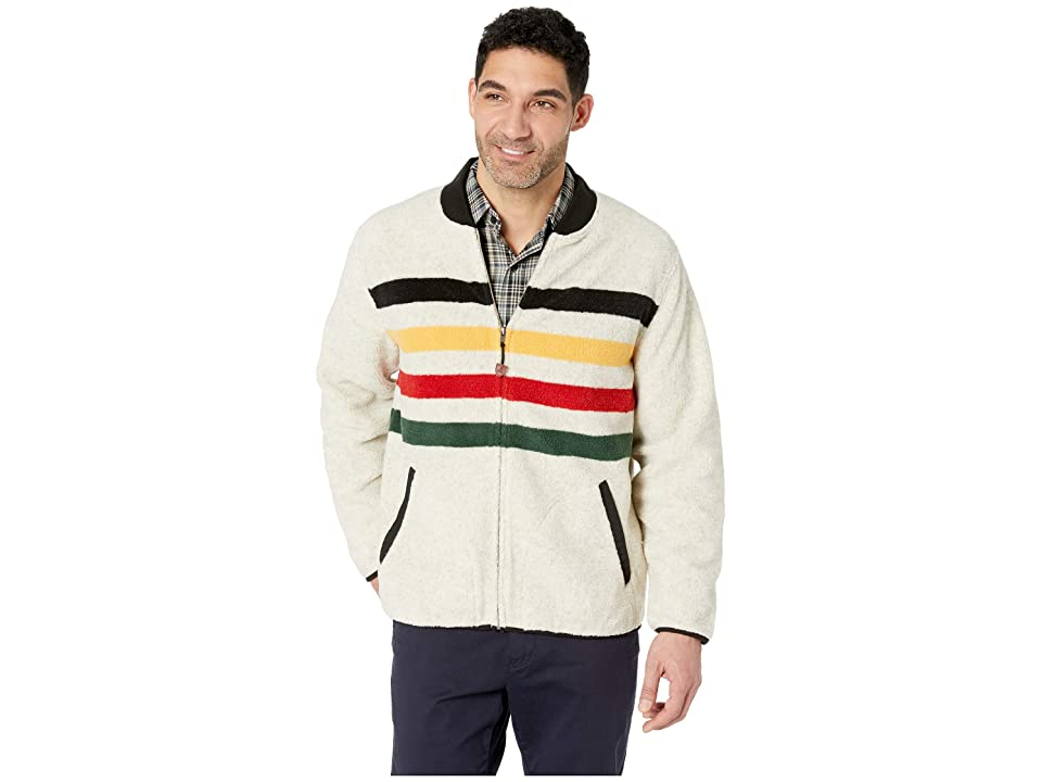Pendleton Glacier Stripe Fleece Jacket (Glacier Stripe) Men