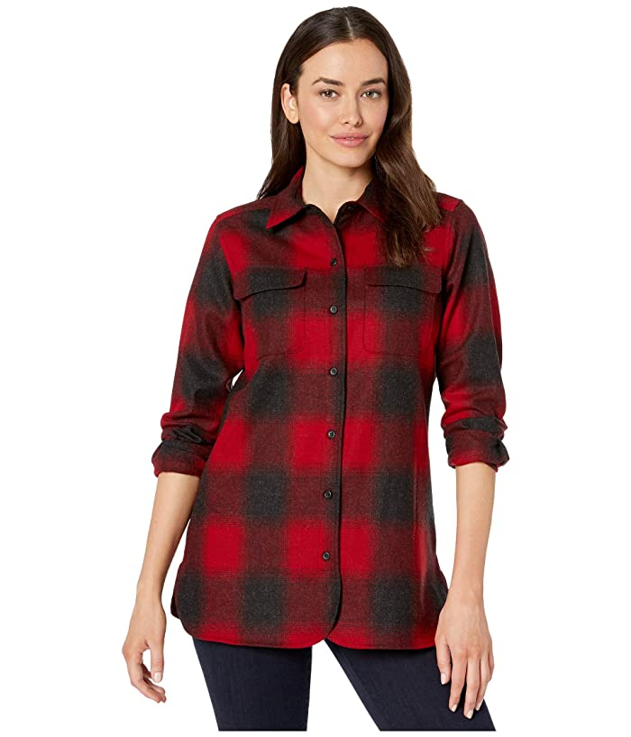 Board Shirt (Red/Black Buffalo Check) Women's Long Sleeve Button Up