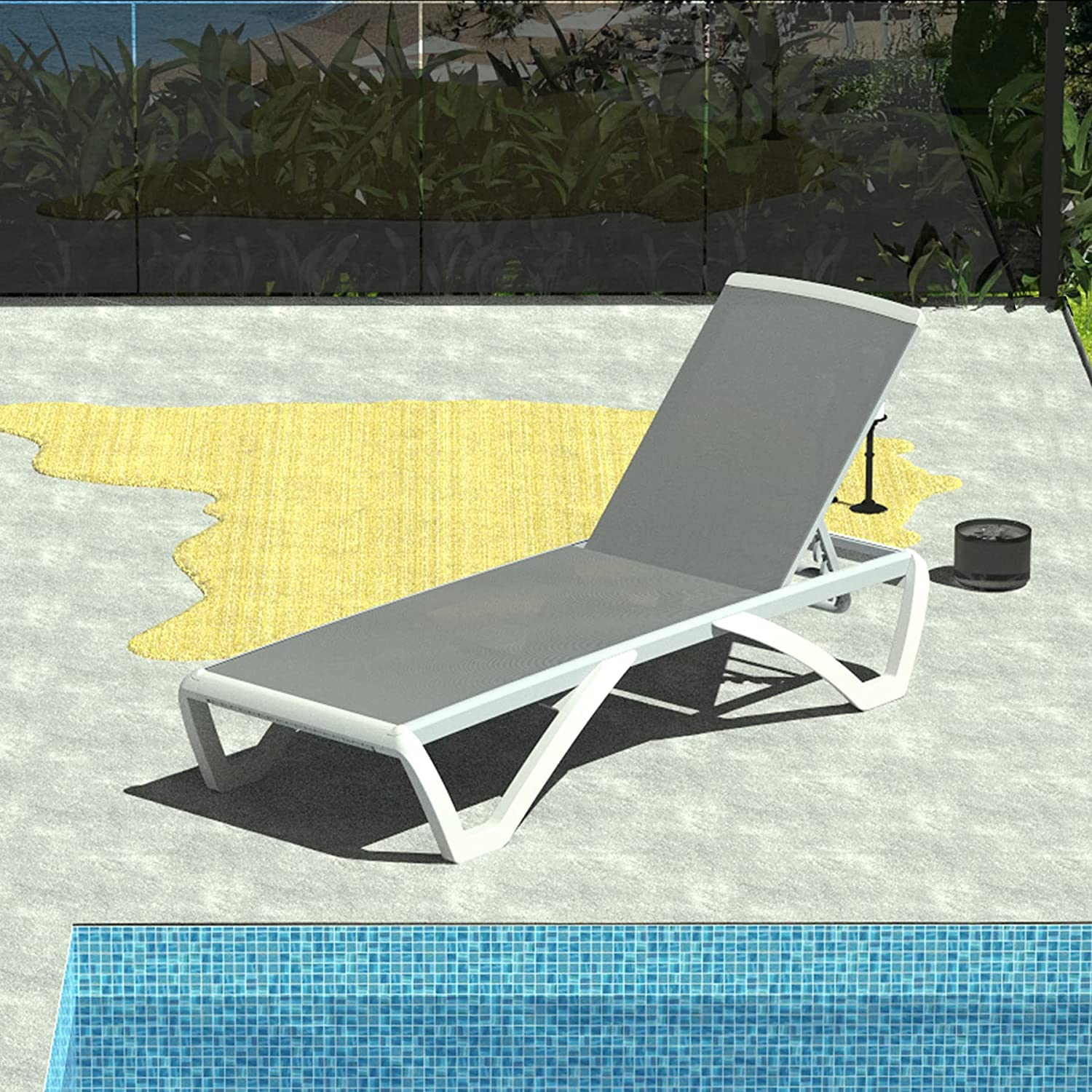 Outdoor depot Chaise sale Lounge Adjustable Weath Backrest All Chair