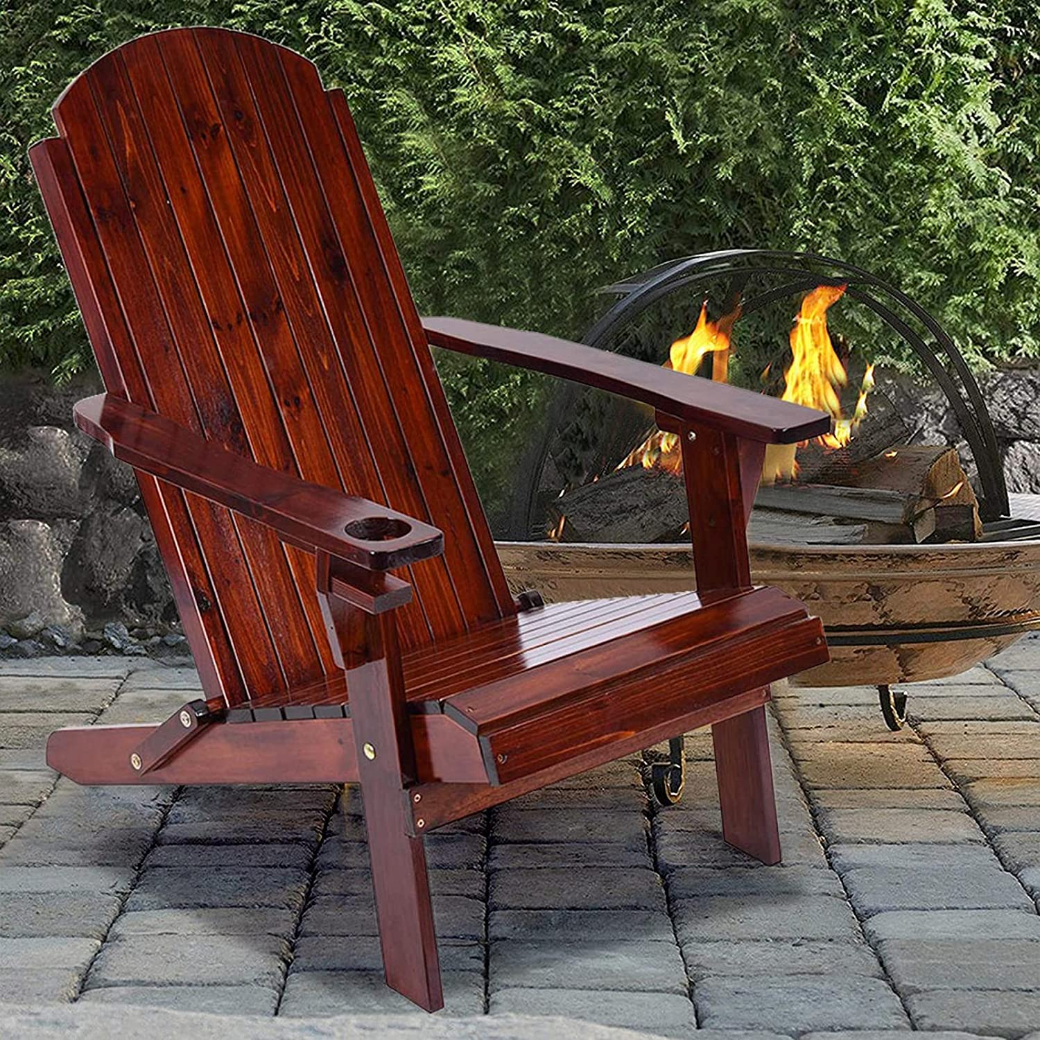 DFDGBD Classic Solid Wood Folding and Chair All items free shipping Reclining Bombing free shipping Adirondack