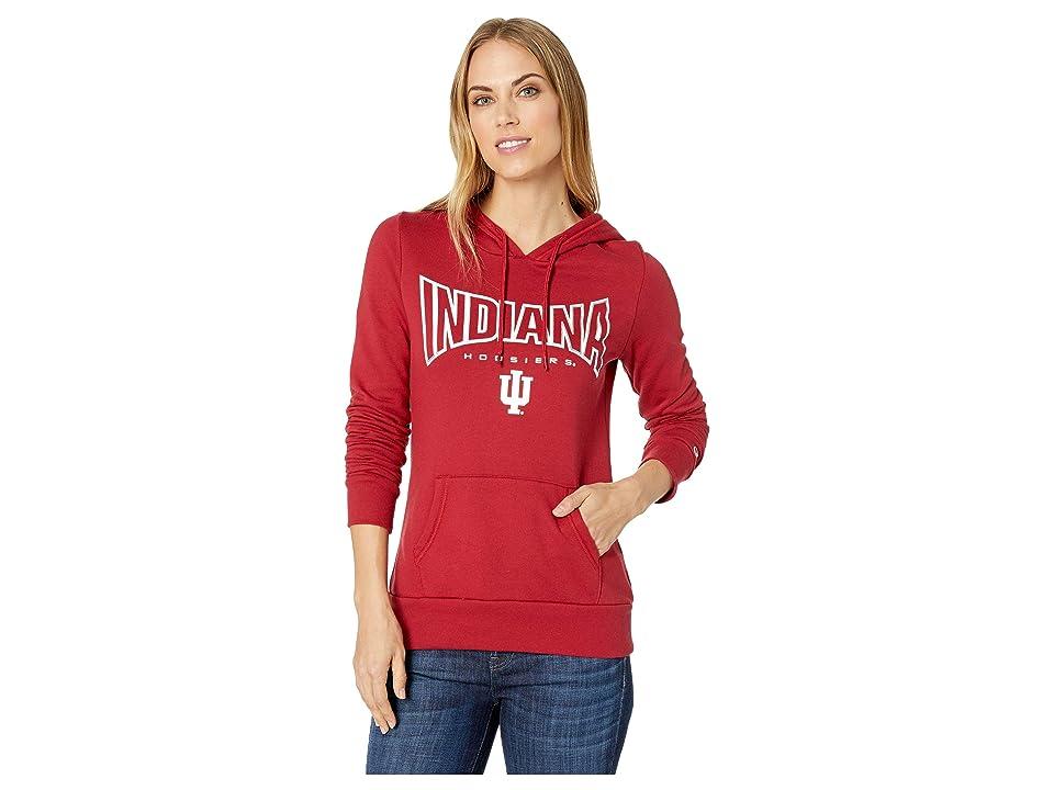 Champion College Indiana Hoosiers Eco University Fleece Hoodie (Cardinal 2) Women