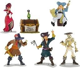 Disney Parks Pirates of the Caribbean 6 Piece Figure Playset Set