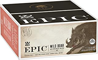 EPIC Wild Boar with Uncured Bacon Protein Bars, 12 Count Box 1.5oz bars
