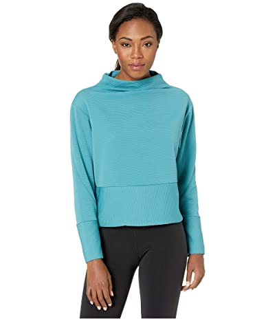 Nike Dry Get Fit Fleece Mock (Mineral Teal/Black) Women