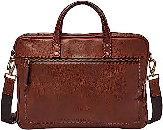 Men's Leather Single Zip Briefcase