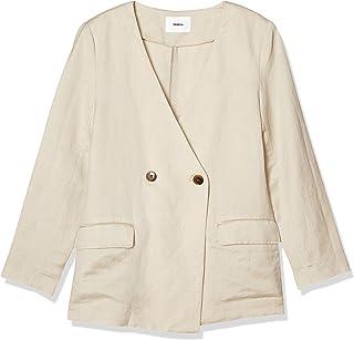 [ムルーア] ジャケット リネンライクノーカラージャケット レディース 012020100401