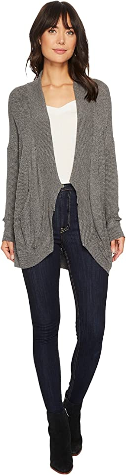 Allen Allen - Thermal Sweater Long Sleeve Cardigan