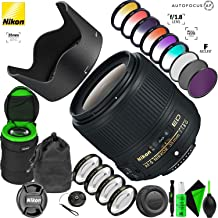 Nikon AF-S NIKKOR 35mm f/1.8G ED Lens with Creative Filter Kit and Pro Cleaning Accessories