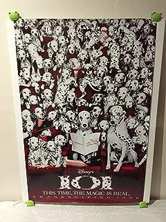 Walt Disney 101 Dalmatians Movie Theatre Poster 27x40 One Sheet Rare 1996 Dog Thanksgiving Release
