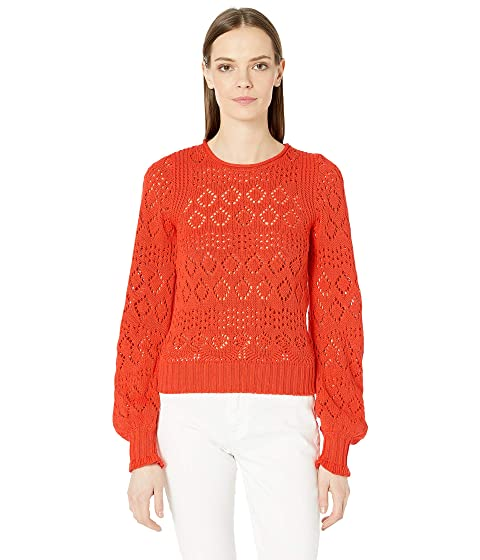 See by Chloe Puffed Sleeve Cotton Knit Sweater