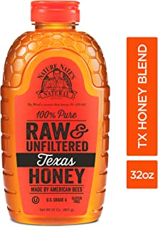 Nature Nate'S 100% Pure Raw & Unfiltered Texas Honey; 32-oz. Bottle; Sweet Southern Honey Just As Nature Intended; No Additives, Preservatives or Fillers; Made By Texas Bees In The Lone Star State