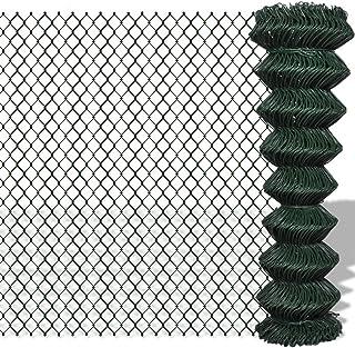Grillage Fin en Acier avec rev/êtement en PVC 25x1,5 m Hexagonal Gris Tidyard Grillage a Poule Grillage Cloture Cl/ôture de Jardin