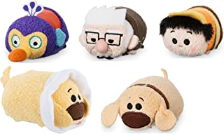 "Disney Store Mini Tsum Tsum Up Set of 5 Stuffed Plush 3.5"" Toys Carl Russell Kevin Dug and Cone Dug"