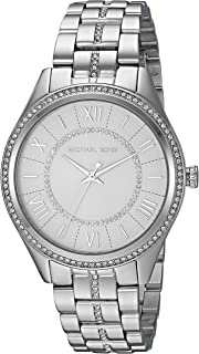 Women's Lauryn Quartz Watch with Stainless-Steel Strap, Silver, 18 (Model: MK3718)