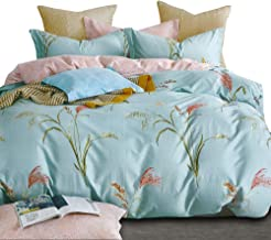 Essina King Size Quilt Cover Duvet Cover Doona Cover Set 3pc Valencia Collection, 100% Cotton 620 Thread Count, Pillow Sha...