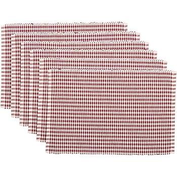 VHC Brands Harvest /& Thanksgiving Farmhouse Tabletop /& Kitchen Ashton Orange Ribbed Runner 13 x 72 Rust