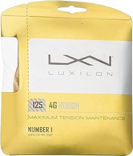Luxilon 4G Rough Tennis String, Gold, 16L Gauge/1.25mm