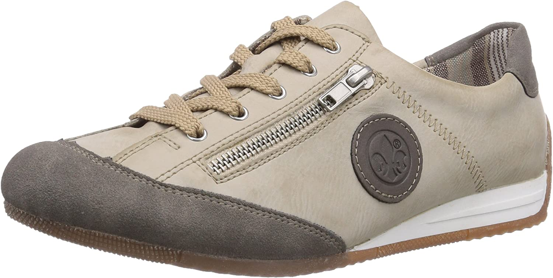 Rieker Women's Lace up Trainer Style White Combi shoes (L9044-42)