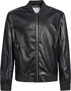 CIVICO 76 Men Motorcycle Riding Bomber PU Leather Jacket
