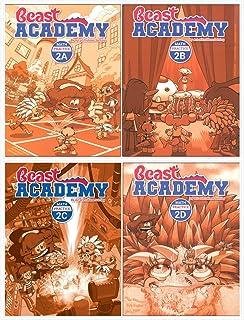 Art of Problem Solving: Beast Academy Grade 2 Practice Workbook Set (4 Books) - Practice 2A, 2B, 2C, 2D