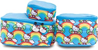 JuJuBe x Hello Kitty | Be Organized | Compact Packing Cubes for Use with JuJuBe Totes, Diaper Bags + Backpack | Travel Sized Pouches | Hello Rainbow | 3 Pack