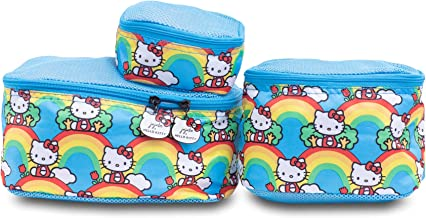 JuJuBe x Hello Kitty   Be Organized   Compact Packing Cubes for Use with JuJuBe Totes, Diaper Bags + Backpack   Travel Sized Pouches   Hello Rainbow   3 Pack