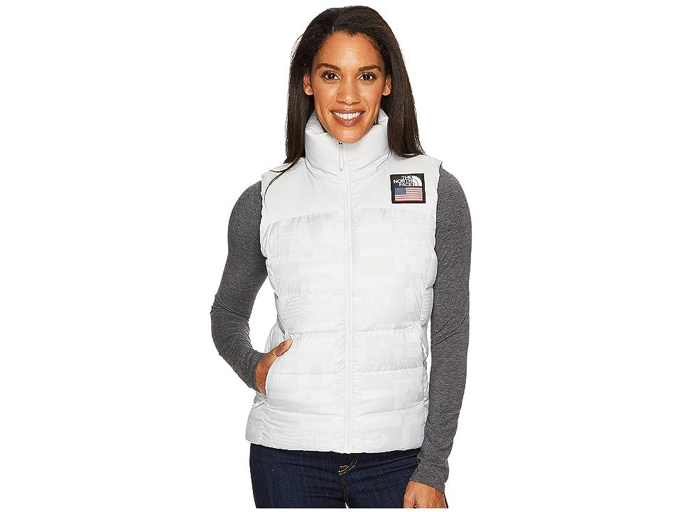 The North Face International Collection Nuptse Vest (Vaporous Grey Flag Print) Women