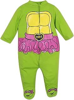 Baby Girls' Ninja Turtles Zip-up Coverall with Footies