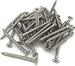 5 x 50mm Screw, Flat Head, Phillips Drive, Self Drilling, 304 Stainless Steel Drywall Wood Screws 50Pcs