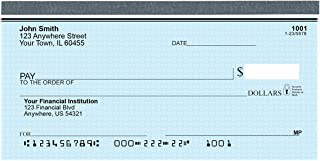 Top Tear Blue Safety Personal Checks - Value Priced (1 Box of Singles, Qty. 125)