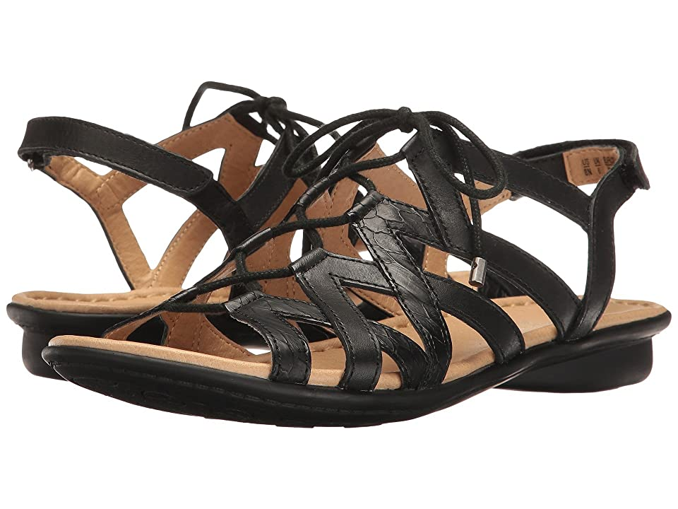 Naturalizer Whimsy (Black Leather/Printed Snake) Women