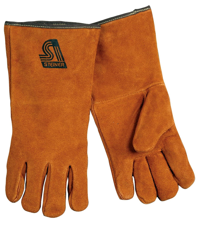 Steiner Japan Under blast sales Maker New 2119C-M Kevlar Side Split Cowhide Leather Welding Gloves