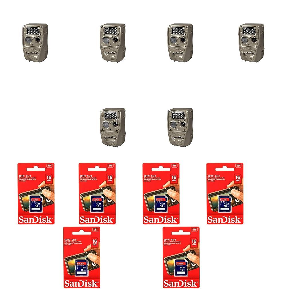 売上高弱まる青Cuddeback フラッシュトレイルカメラ (6パック) SanDisk 16GB SDメモリーカード付き (6パック)