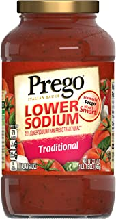 Prego Lower Sodium Traditional Italian Sauce, 23.5 oz.