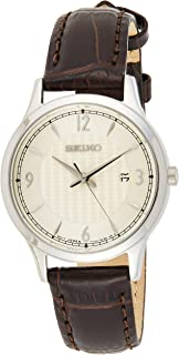 Seiko Wrist Watch Womens Quartz Dress Watch, Analog and Leather - SXDG95P1