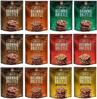 Brownie Brittle, 5 oz, Snack Variety Pack (120 Calorieper oz), 12Count