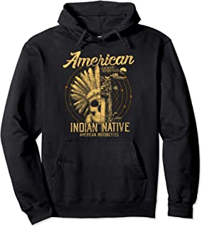American Native Indian Hoodie American Motorcycle Gift Top
